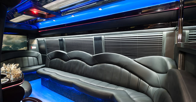 image of interior limo in Bel Air, MD